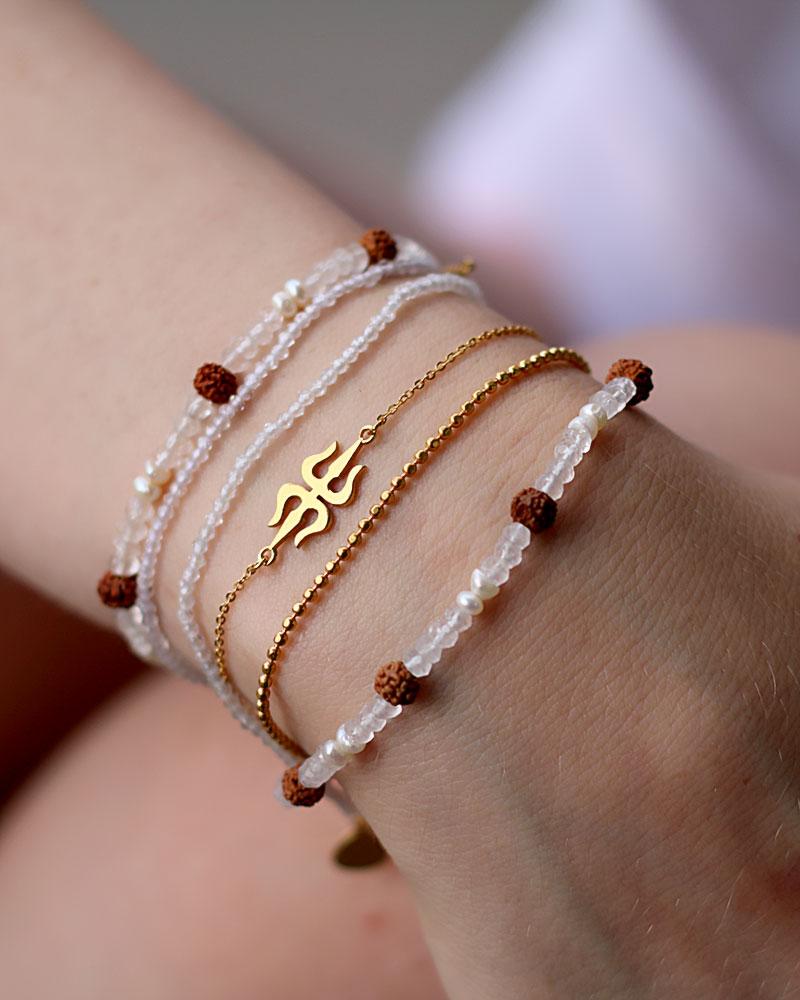 Crystal Rudraksha Bracelet