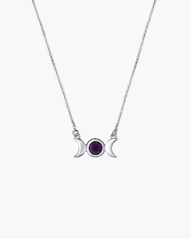 moon and freya with triple pentacle s pendulum gb amethyst necklaces necklace