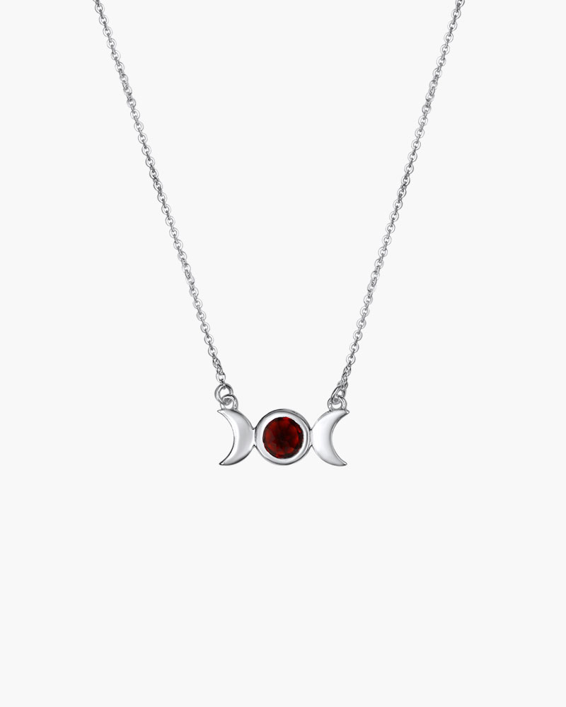Garnet Triple Moon Goddess The Triple Moon Is A Goddess Symbol